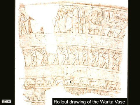Roll Out Drawing Of The Warka Vase History From Recent To