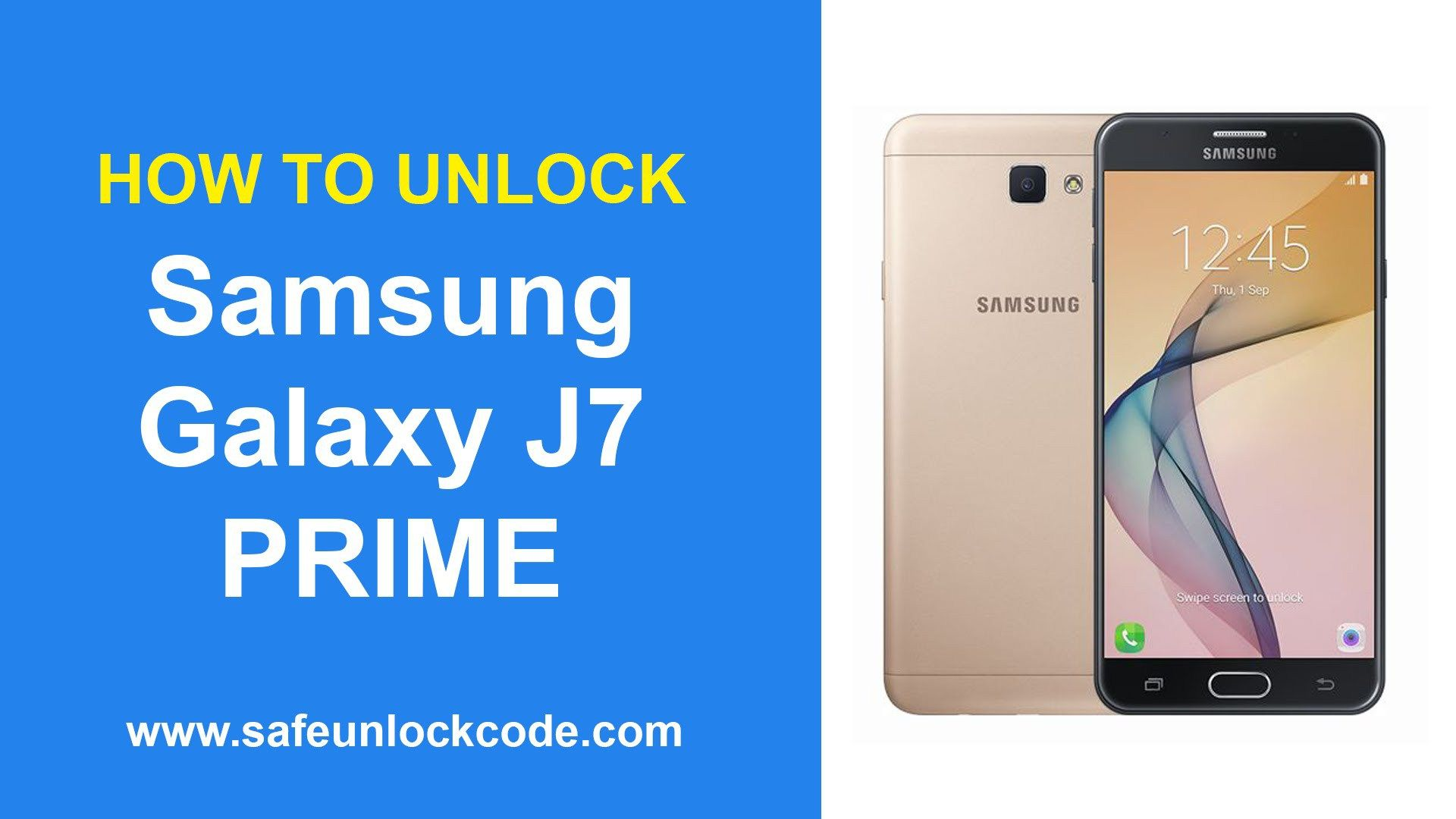 How to Unlock Samsung Galaxy J7 Prime SafeUnlockCode WATCH VIDEO HERE