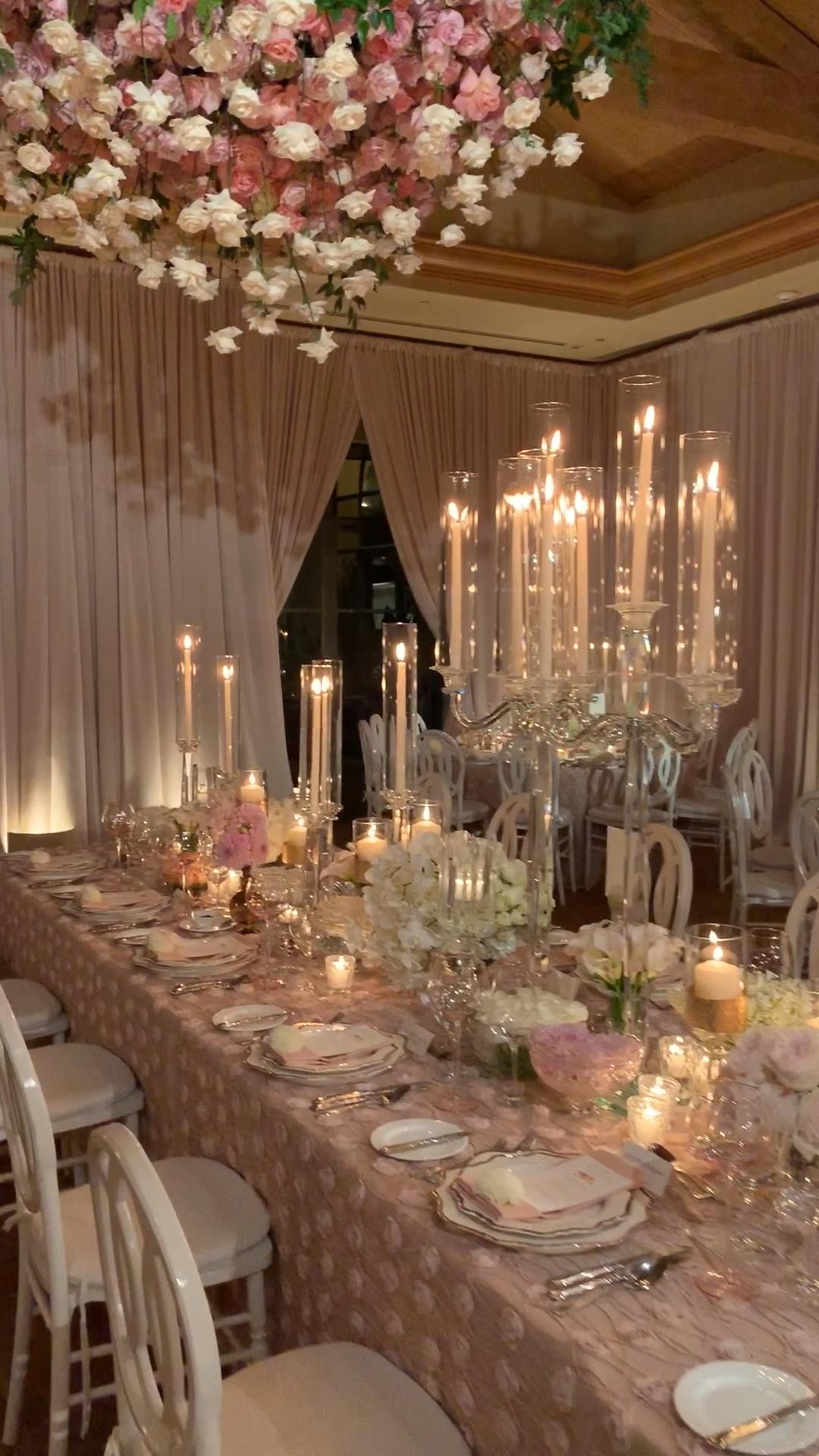 Romantic Blush Wedding Reception