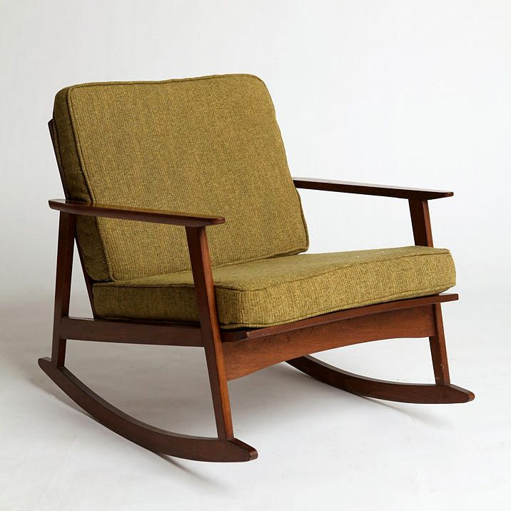 mid century rocker chair furniture pinterest mid century
