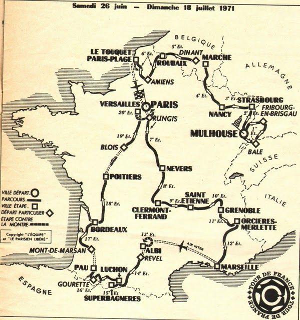 Bildresultat för tour de france 1971 France Pinterest