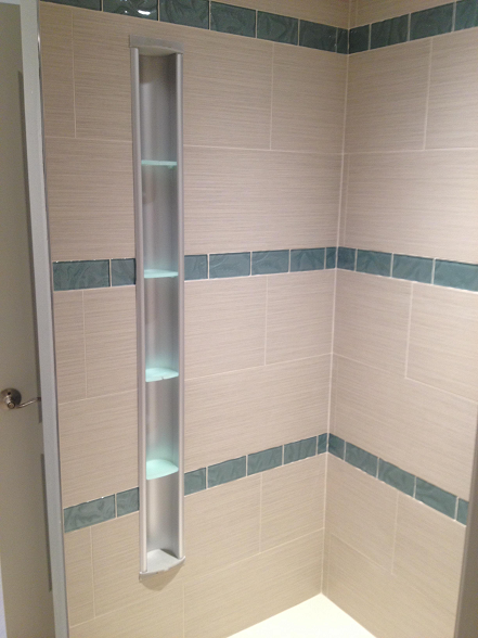 Installed the kohler pilaster shower locker on the for Florida bathroom ideas