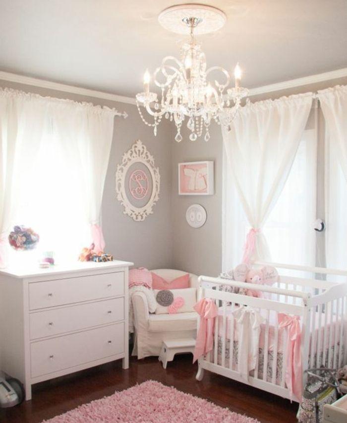1001 Conseils Et Idees Pour Une Chambre En Rose Et Gris Sublime Decoration Chambre Bebe Decoration Murale Chambre Bebe Deco Chambre Bebe
