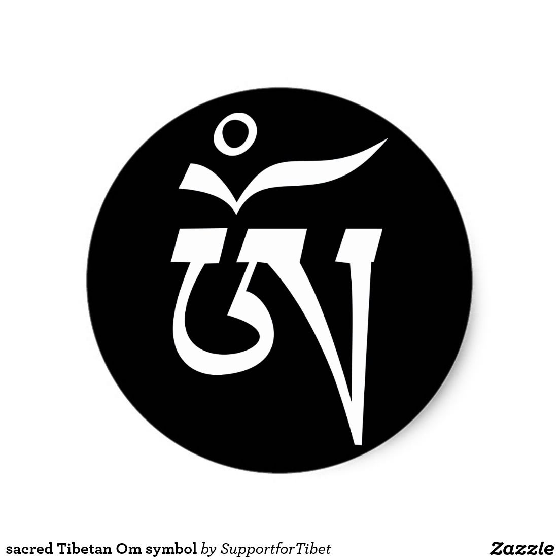 Buddhist Symbols Stickers Zazzle Om Pinterest
