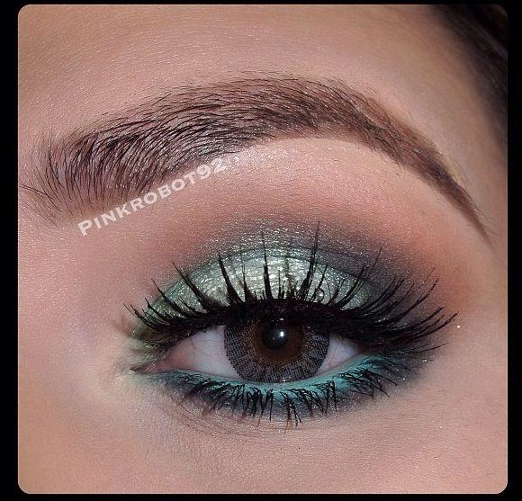 Aqua makeup aqua eyeshadow sea light blue | Makeup prom 2014 ...