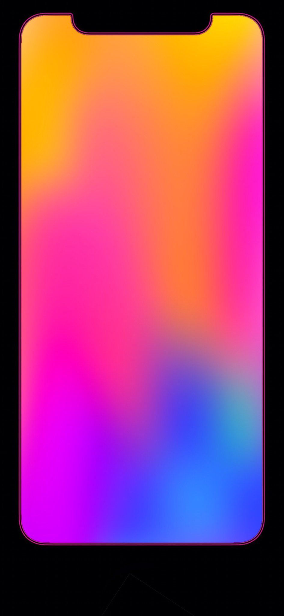 Iphone X Red Border Wallpaper