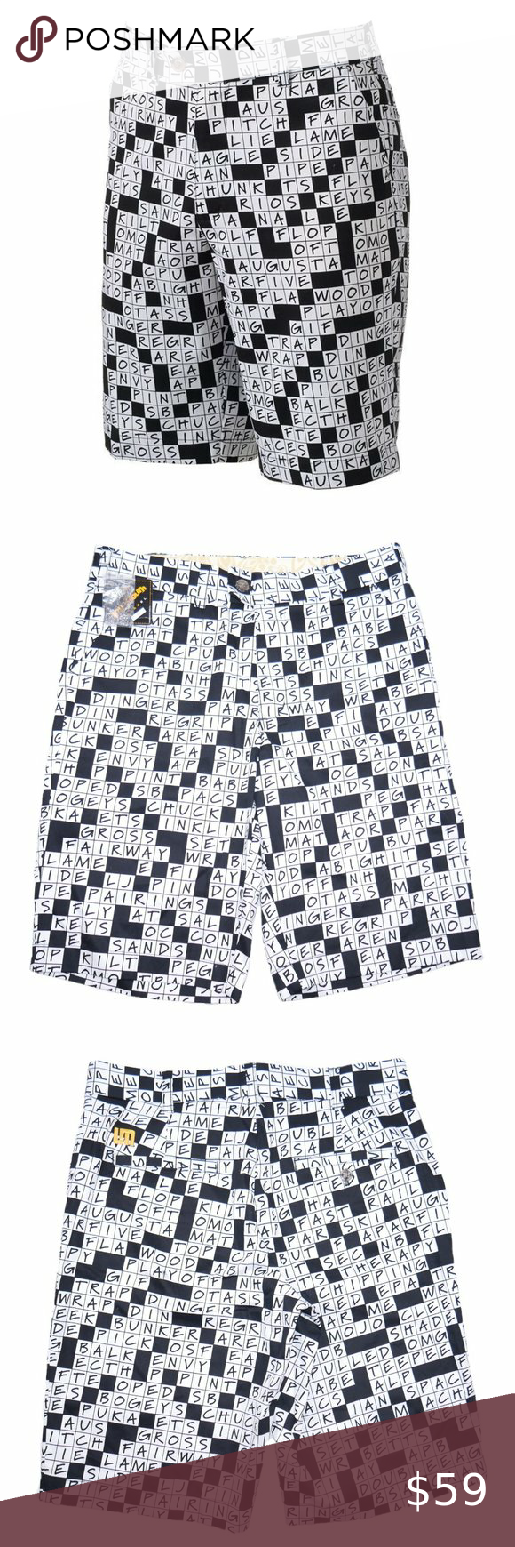 Loudmouth Mens Stretch Dry-Fit Golf Shorts Size 30 ...