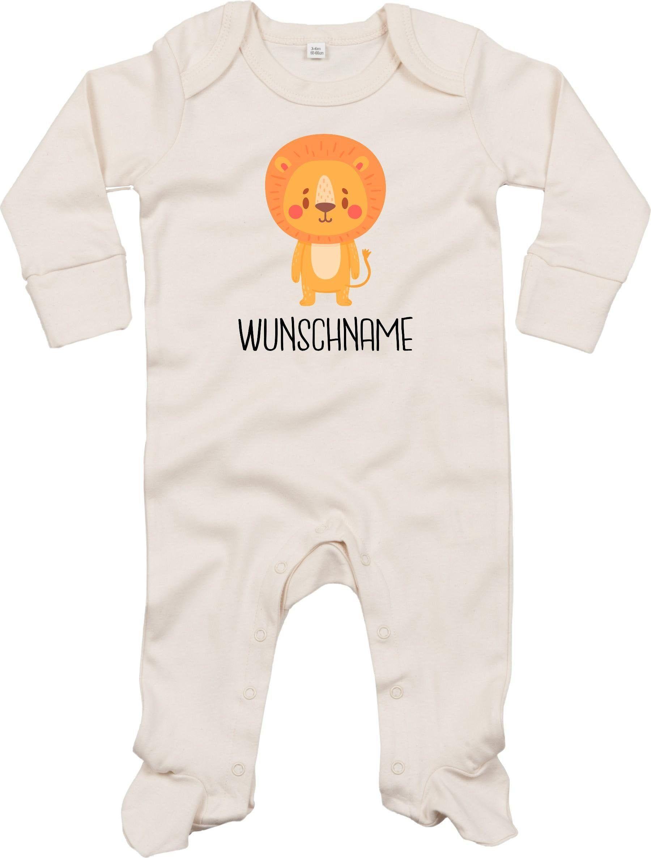 Kleckerliese Baby Schlafanzug Sleepsuit Longsleeved Jungen M/ädchen Strampler Langarm Einteiler mit Aufdruck Motiv Tiere REH Wunschname