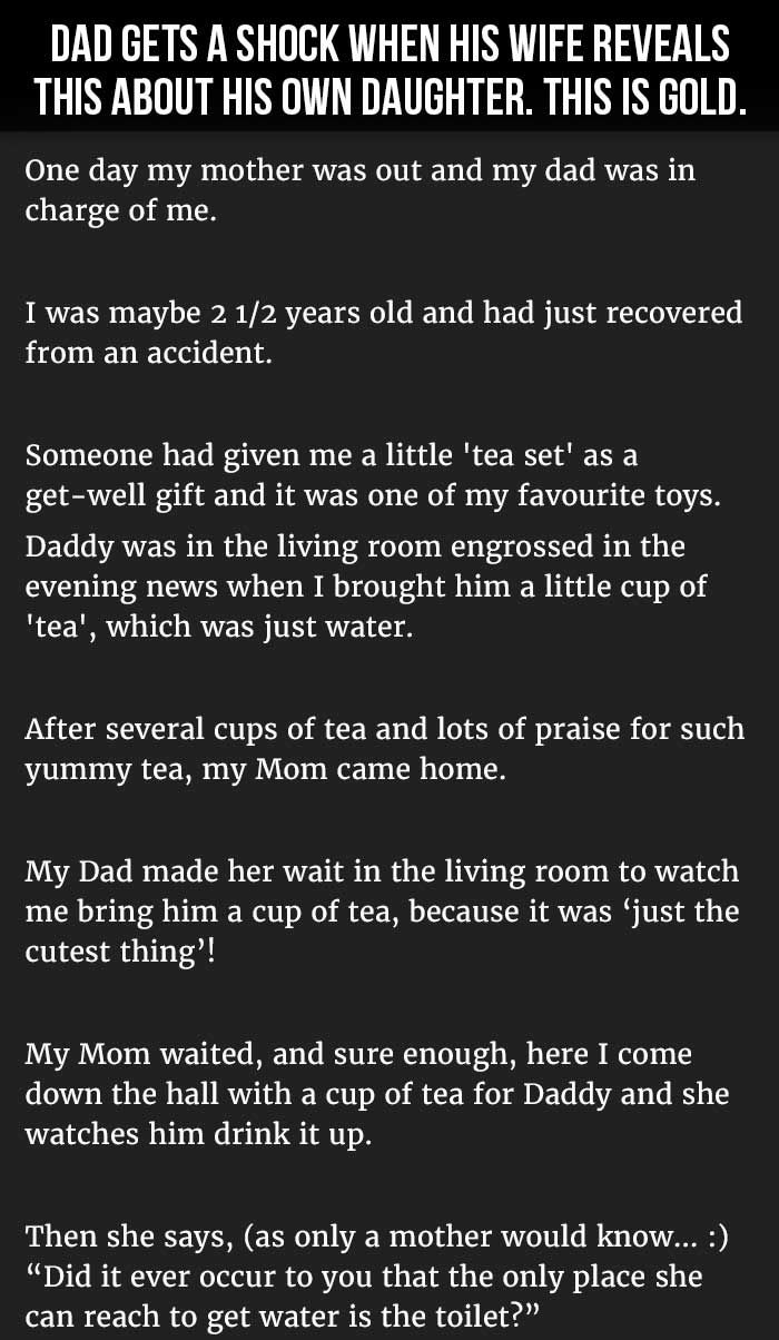 Dad Gets A Shock When His Wife Reveals This About His Own Daughter This Is Gold Lustige Bilder Witzig Lustig