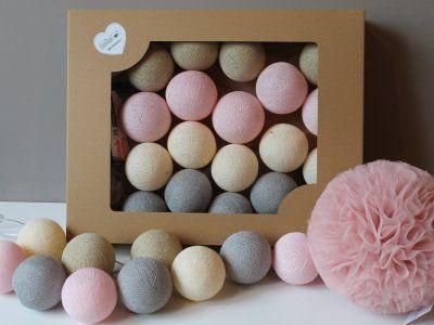 Lampki Cotton Balls Pastelove 20 Sztuk 6313550306 Oficjalne Archiwum Allegro Dusty Pink Cotton Balls Pink
