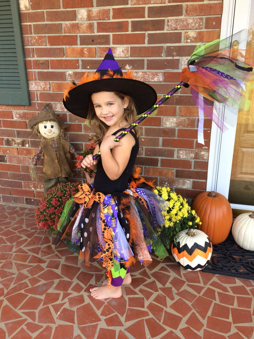 Kid Girl Child Halloween Pumpkin Witches Witchery Party Fancy Costume Dress Up