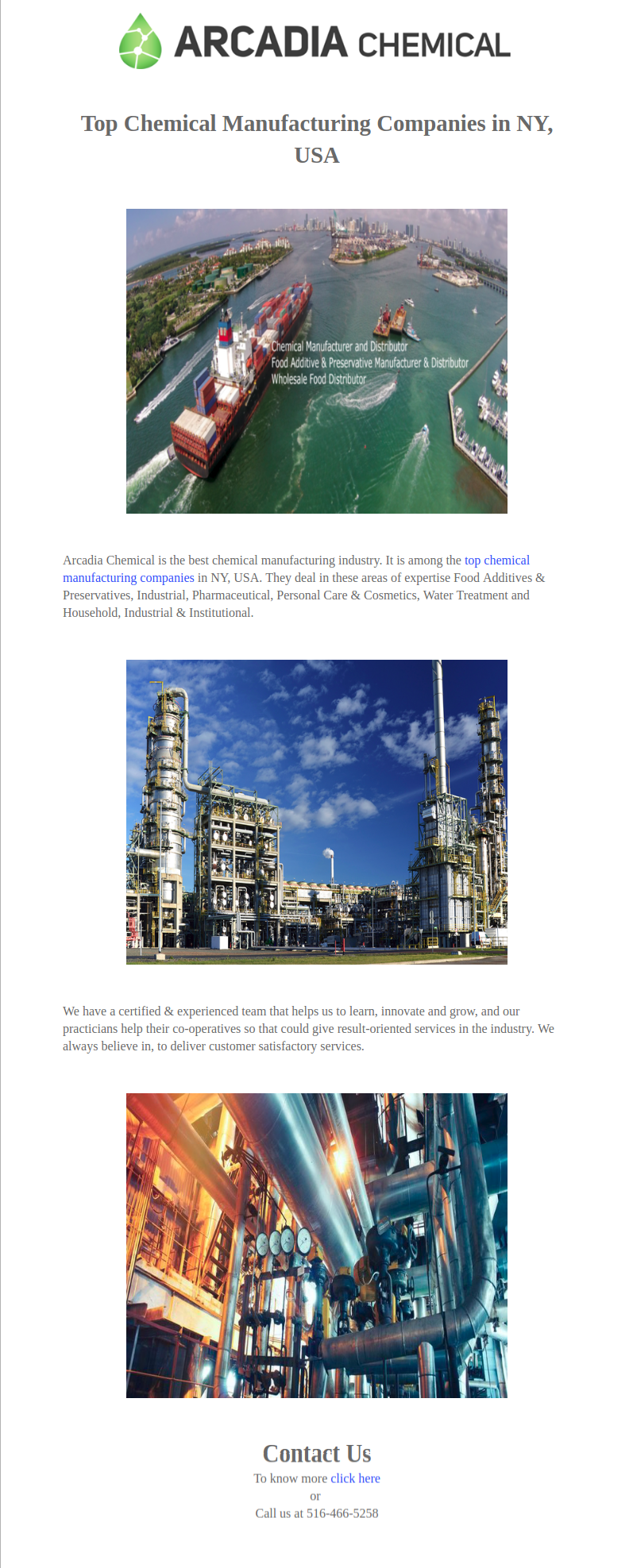 Arcadia Chemical is the best chemical manufacturing