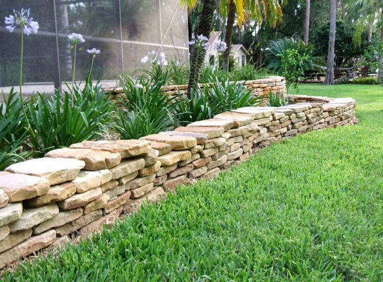 Muros De Piedra Seca Sin Cemento 24 Ideas Para Jardines Muro De Jardin Jardin Con Piedras Muros De Contencion De Concreto