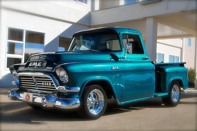 1957 Gmc Pick Up Truck I Had One I Put A 455cu Olds Motor And Turbo400 Trans In It It Was Faster Than A Speeding Gmc Trucks Gmc Vehicles Classic Cars Trucks