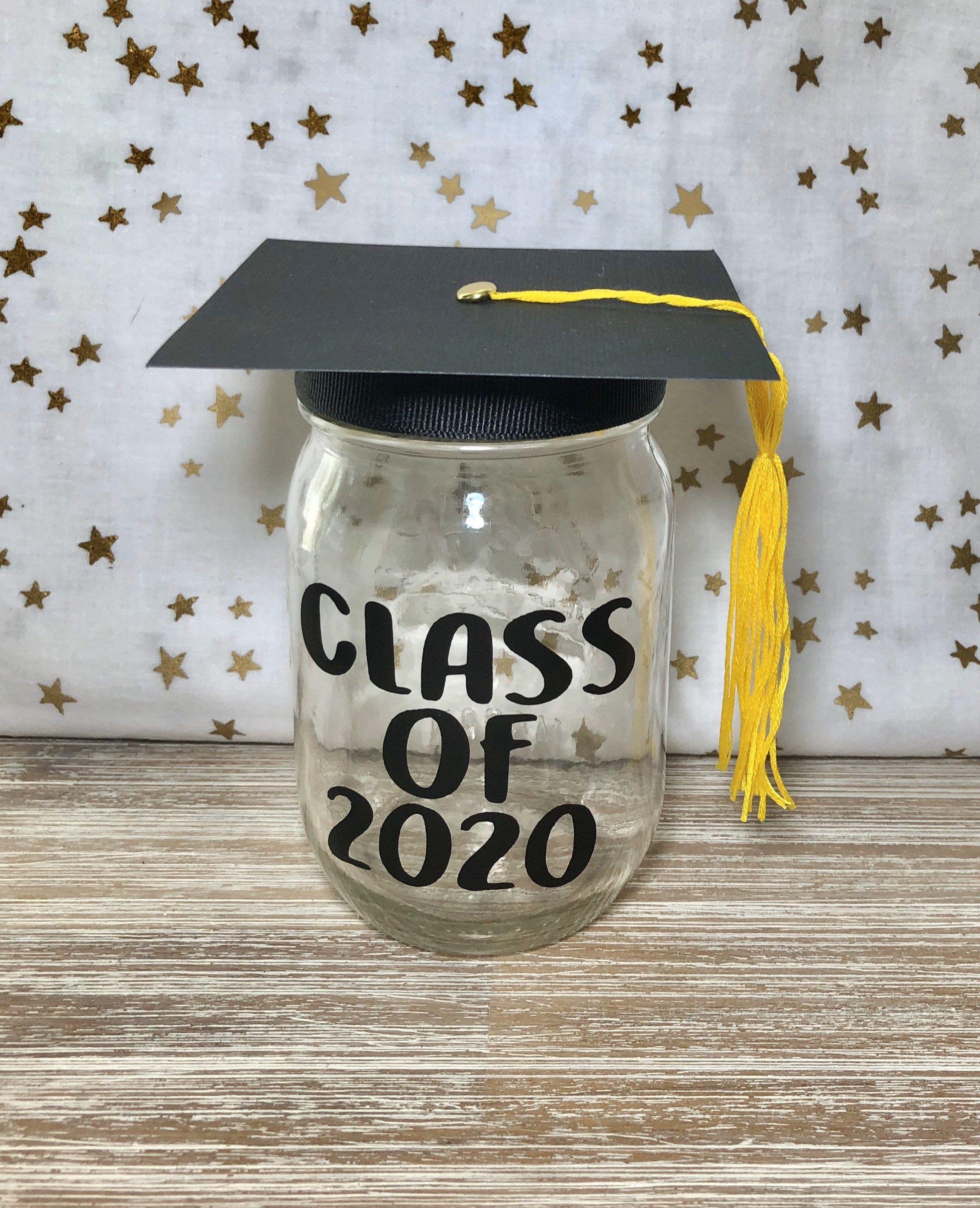 Class Of 2021 Graduation Gift And Party Decoration Mason Jar Etsy Graduation Center Pieces Graduation Gifts High School Graduation Gifts