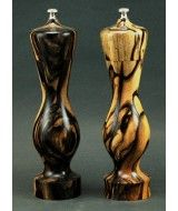 Ltd Edition - Amphora Salt and Pepper Mills in Black & White Ebony by Pepper-Passion.