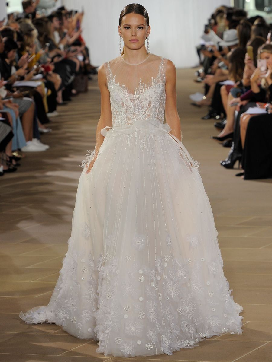 65c5c70cd0c9 Ines Di Santo Fall 2019 Bridal Collection  A-Line Wedding Dress with  Embellishments