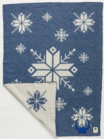 Lopi Wool Blanket - Blue Frost (0301) - Wool Blanket - Shop Icelandic Products - 1