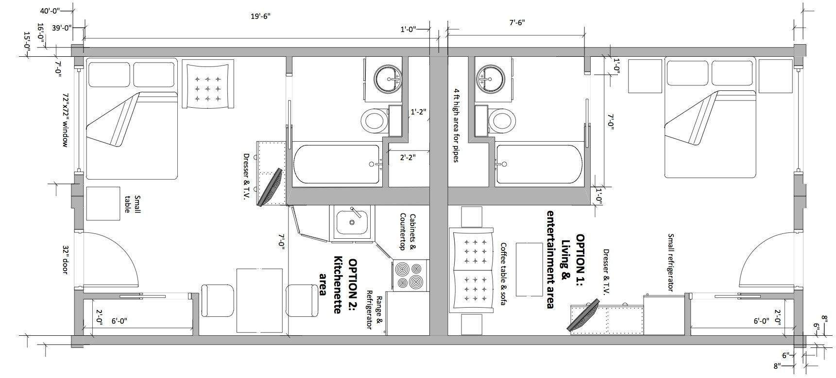 Motel room plan images galleries with for Roommate floor plan