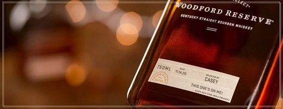 Campione Gratuito Etichette Personalizzate per vino o liquore Woodford Reserve