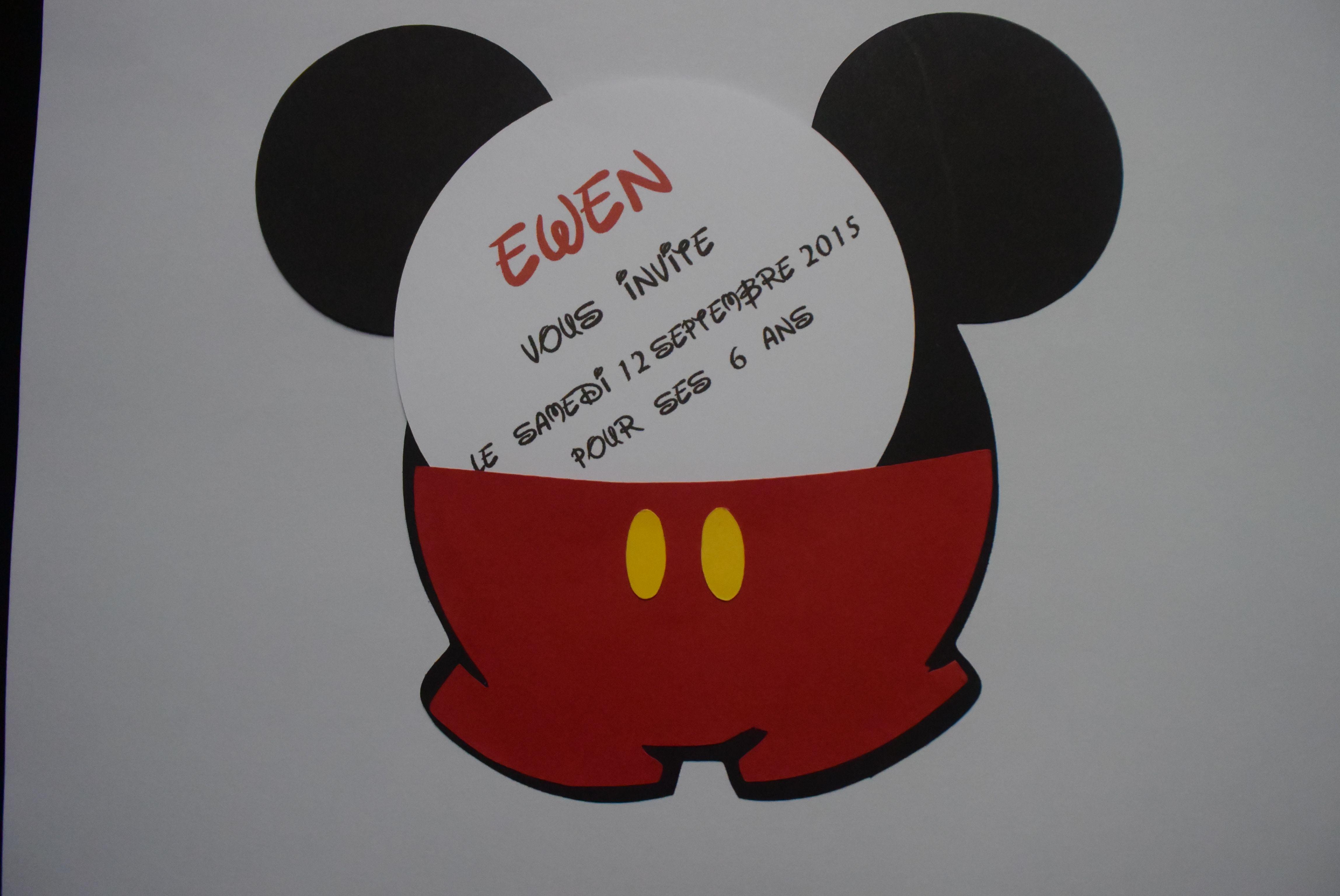 Faire Part Anniversaire Mickey Bapteme Invitations