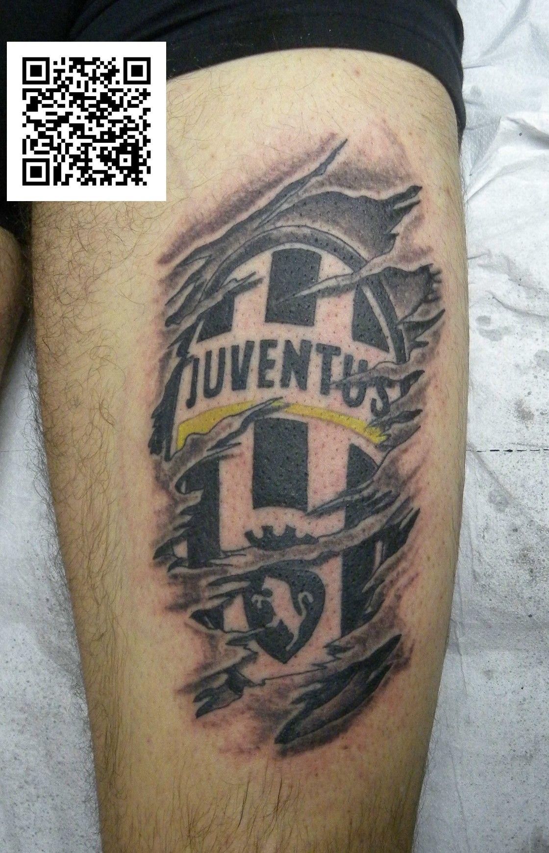 juventus squarcio logo tatuaggio montefortetattoo2016 passion tattoo pinterest. Black Bedroom Furniture Sets. Home Design Ideas