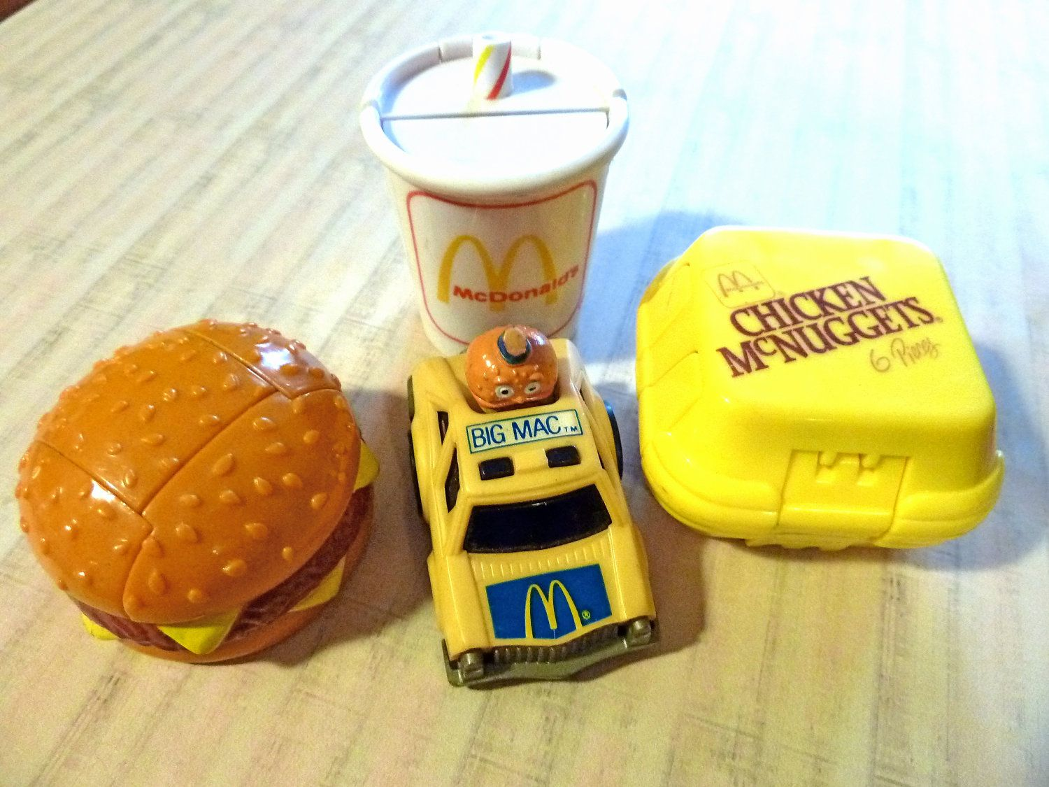 Lot Of Four Vintage McDonalds Happy Meal Toys