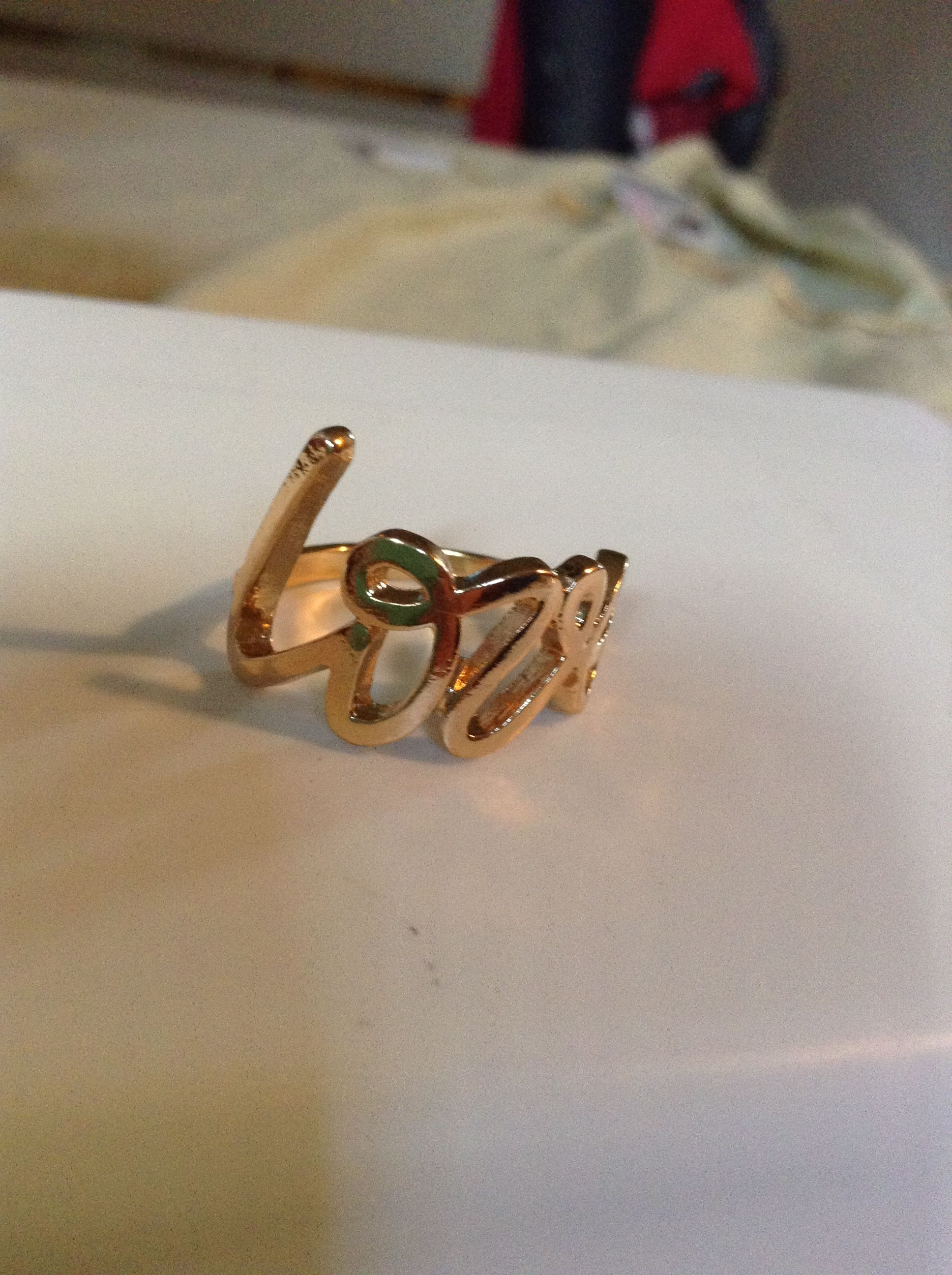 """""""Love"""" Charlotte Russe ring"""