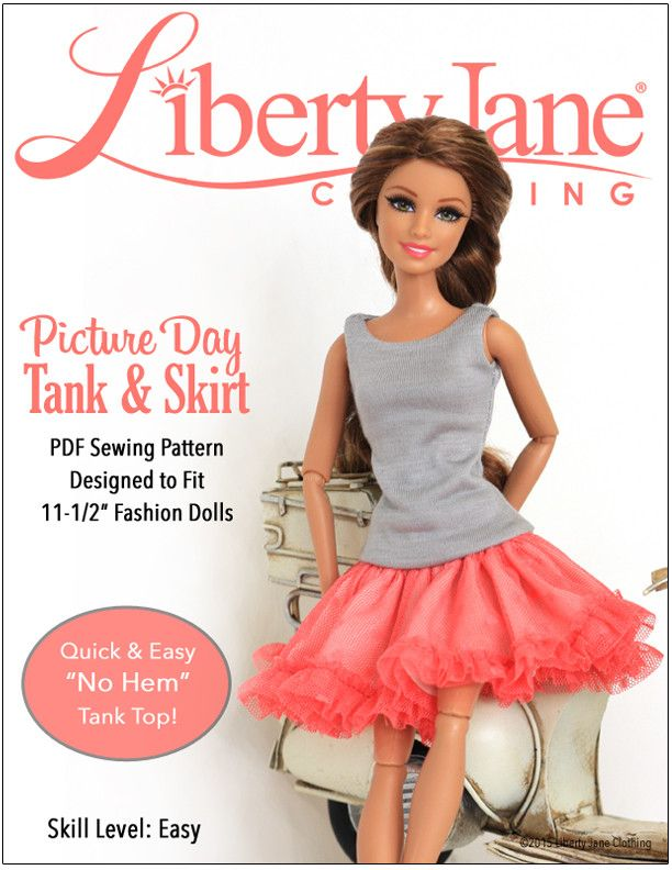 Picture Day Skirt Tank For 11 1 2 Fashion Dolls