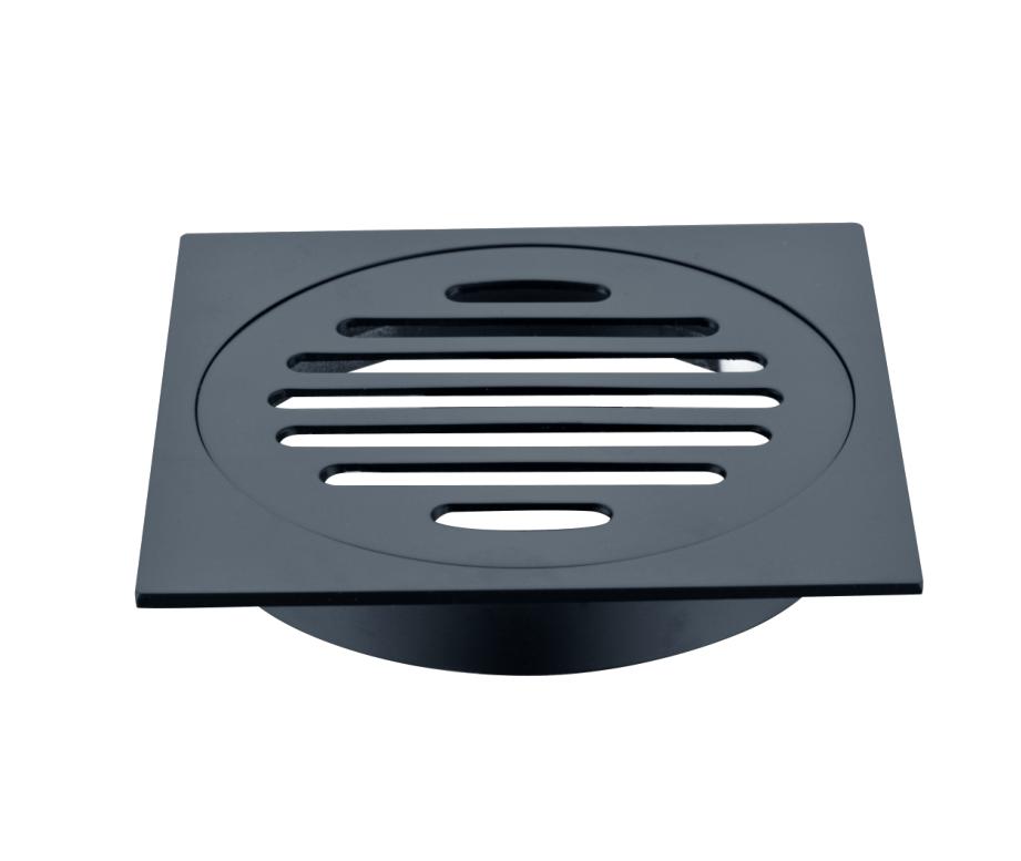 Matte Black 4 4 Inch Square Floor Grate For Shower Tile Waste Easy