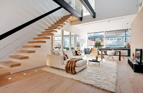 Zevende trap woonkamer trap in woonkamer in