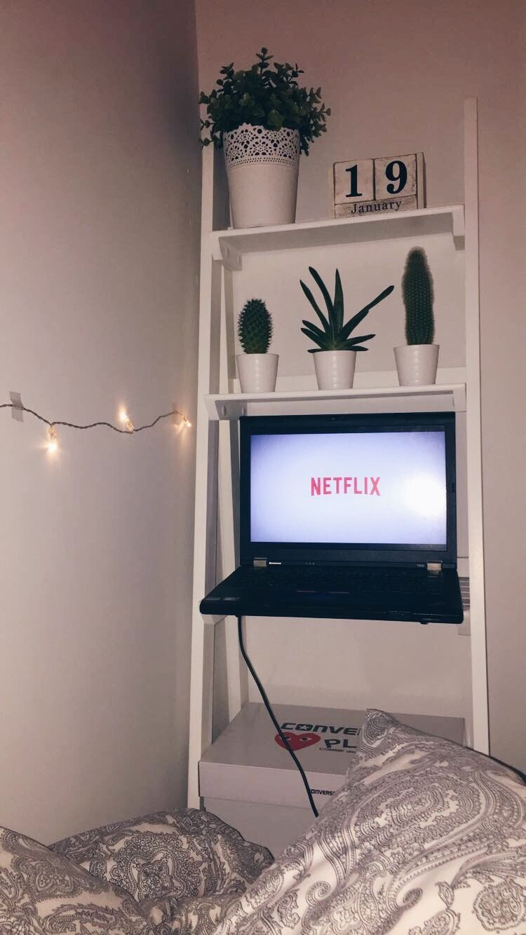 Is that a ladder  @oliviatreweeke roomdecor  room inspo Netflix riverdale stranger things skins tumblr fairy lights bedroom small bedroom ideas  Small Bed Room Ideas, Bedroom Small, Cute Room Ideas is part of Room decor -