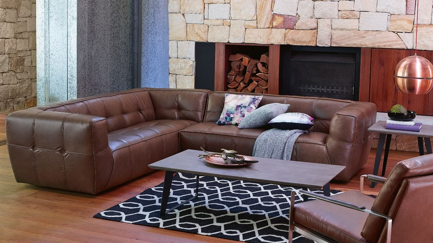 leather office couch. Stockholm Leather Sofa | Domayne Office Couch