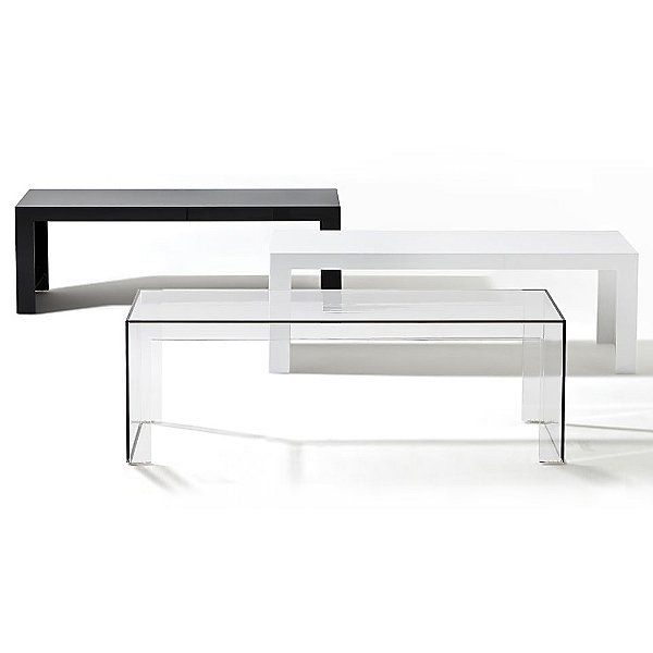 Kartell Tall White Outdoor Invisible Side Table By Tokujin