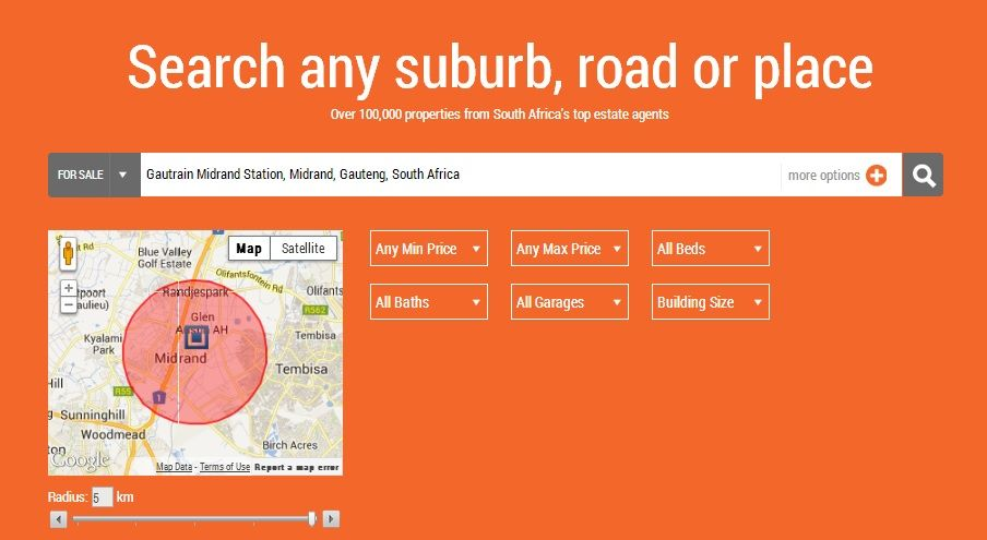 Search For Property In South Africa On The New Myproperty Website