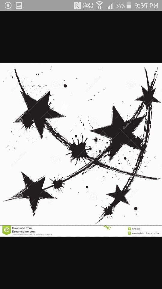 Cluster For Friends In My Corner Ppl Who Aint Going Nowhere Folk Who Down Like Four Flat Tires Star Tattoo Designs Splatter Art Star Tattoos