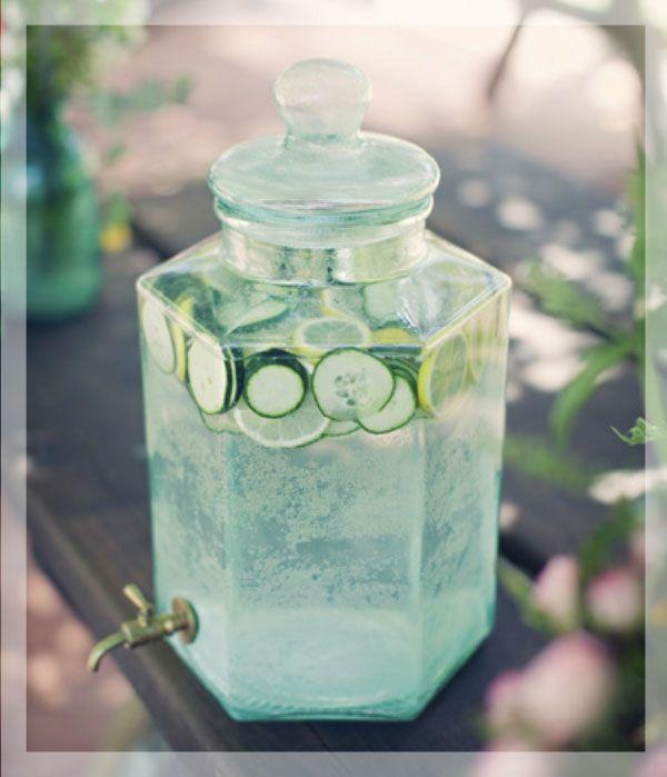 Água aromatizada pepino com limão
