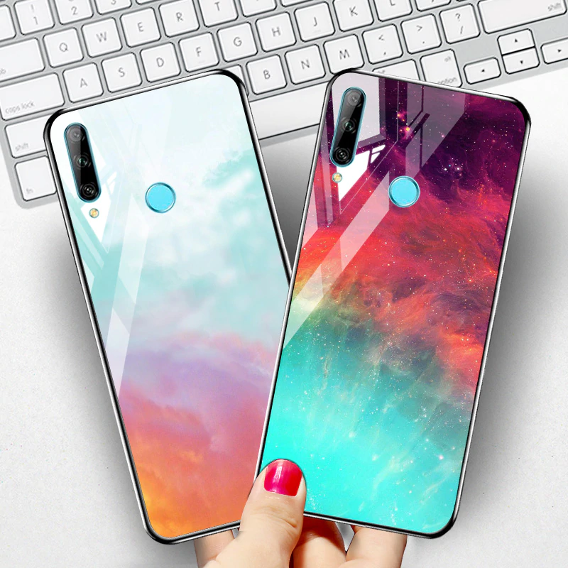 Case For Huawei Y9 Prime 2019 P Smart 2018 Z Case Tempered Glass Cover For Huawei Honor 8x 8a 9 10 Lite 20 7a 7c Pro 10i Play 3 In 2020 Case Huawei Case Huawei