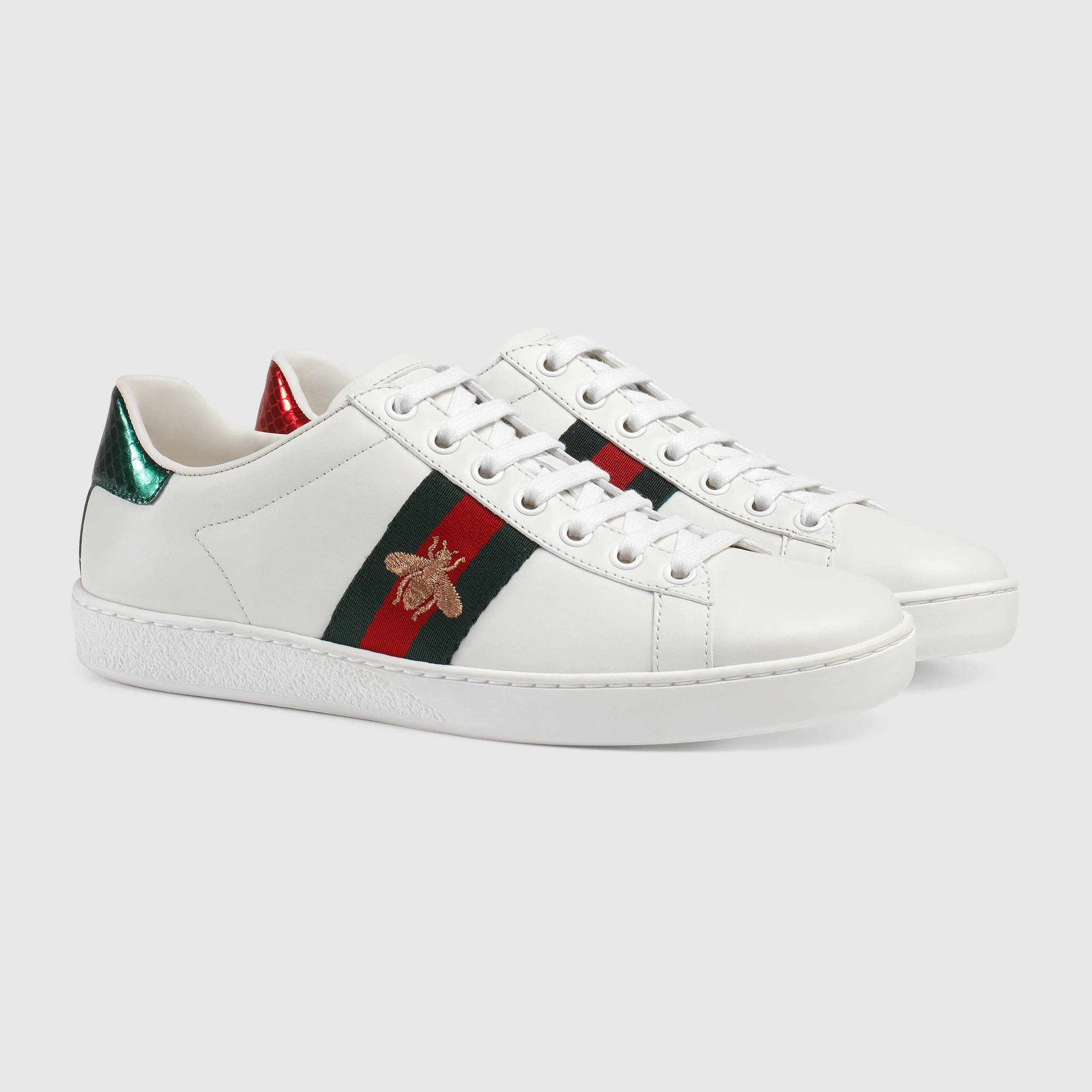 Baskets basses Ace brodées , Gucci Baskets Femme 431942A38G09064