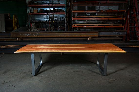 thin reverse matched live edge dining table redwood by mezworks table a manger en