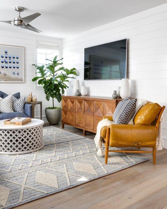 Modern Boho Mid Century Modern Living Room Mywestelm