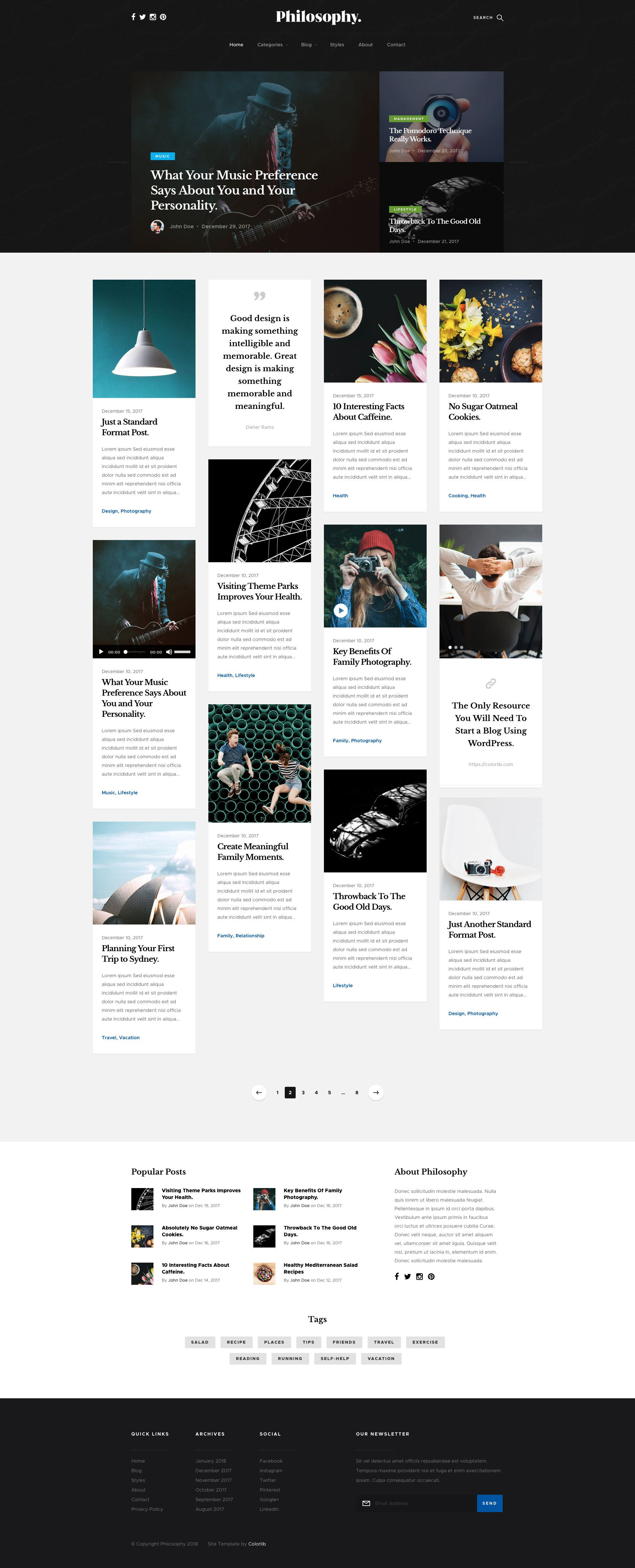 Philosophy Free Responsive Html5 Bootstrap Masonry Blog Template Htmltemplates Co Blog Template Html5 Templates Templates