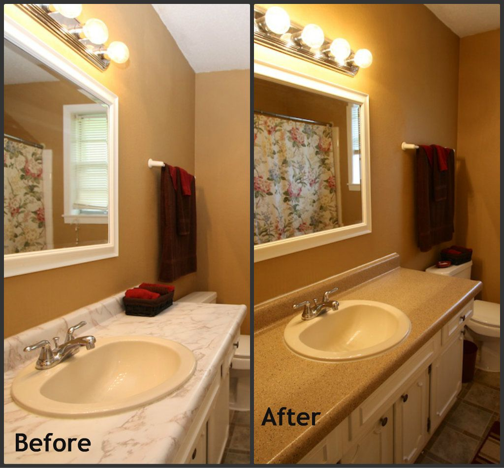 Before And After Bathroom Counters