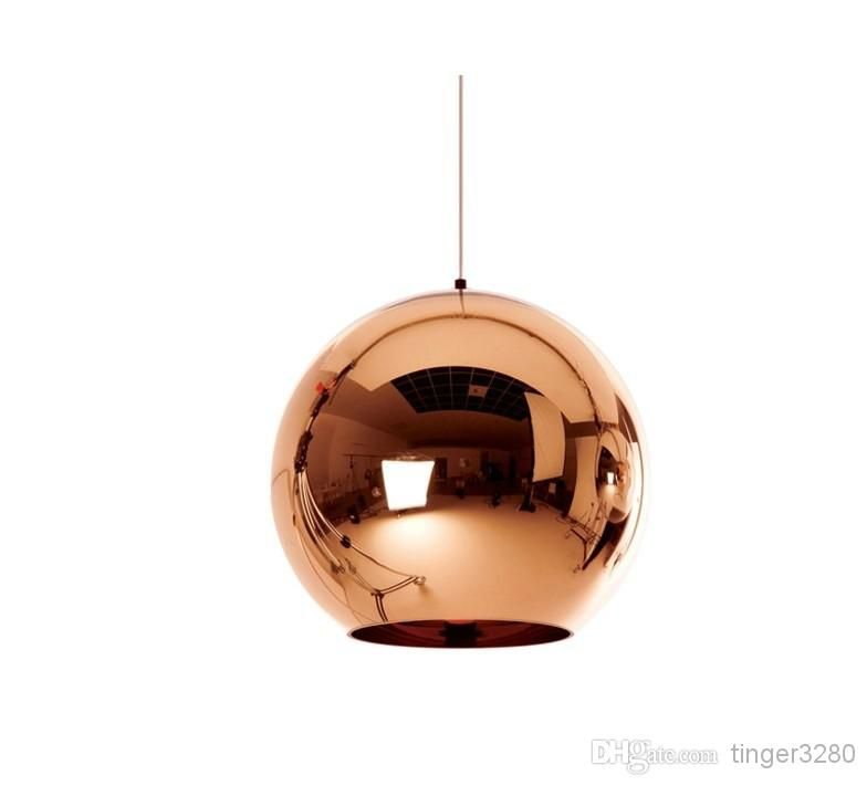 Low Voltage Pendant Lighting Luxury Rose Lighting Lamps Rose Gold Round Ball Engineering Glas Ball Pendant Lighting Bronze Pendant Light Copper Pendant Lights