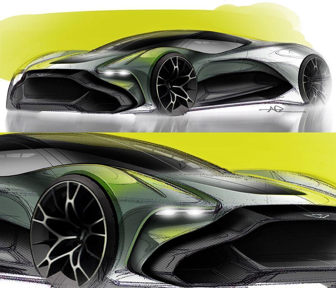 """Aston Martin Sketch: NIKO PESA On Instagram: """"Sketches"""
