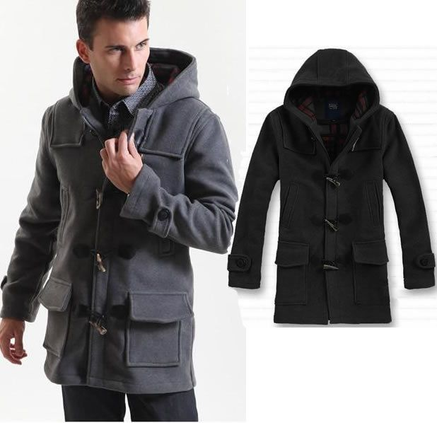 mens-coat-hooded-jacket-wool-overcoat-long-warm-windbreaker-winter ...