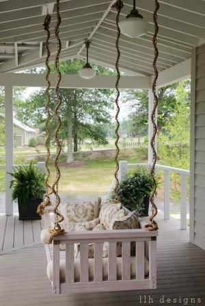 pin by ann stokes on hanging beds and swings porch swing on porch swing ideas inspiration id=11368