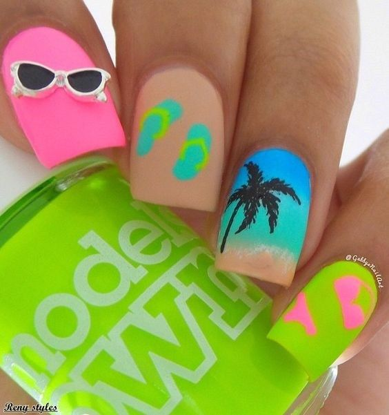 55+ Teen Nail Art Ideas for 2017 / 2018 | Pinterest | Cabello ombre ...