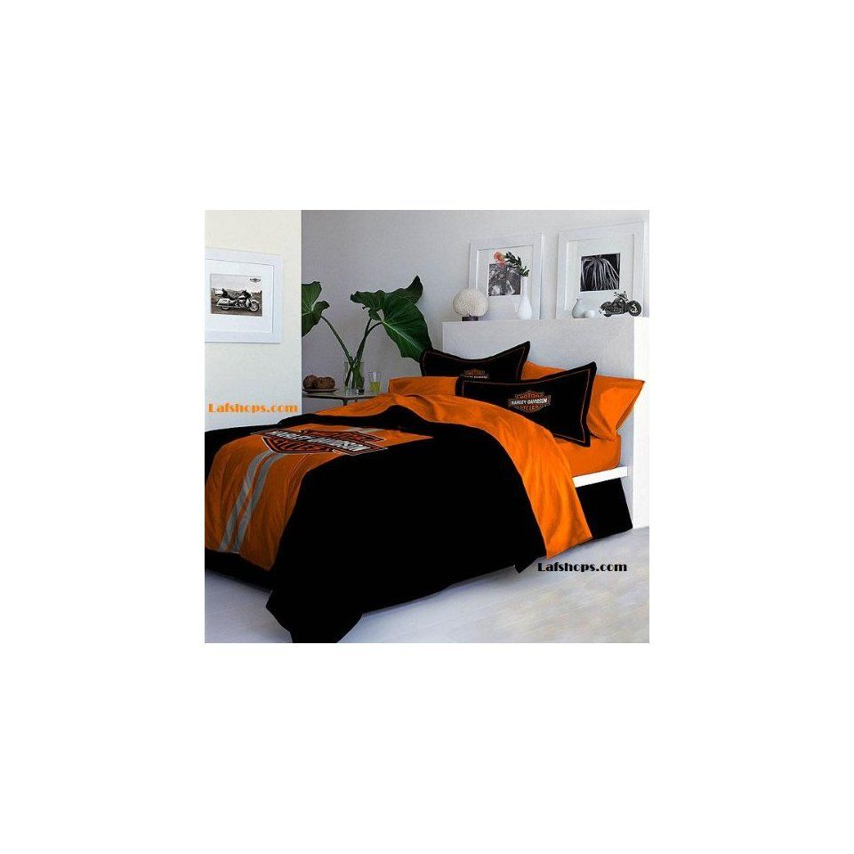 Harley Davidson Bedding Queen Black Orange Flame Harley Davidson Full Queen Comforter Harley Davidson Bedding Bedding Sets Bed