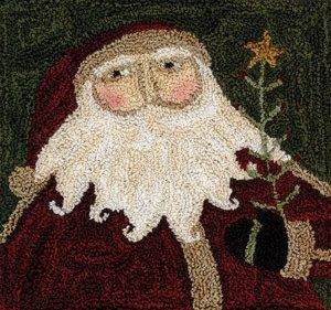 Punch Needle Pattern Santa's Tree by FiddlestixDesign on Etsy, $12.00